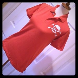 Pirate Embroided Polo-Style Top
